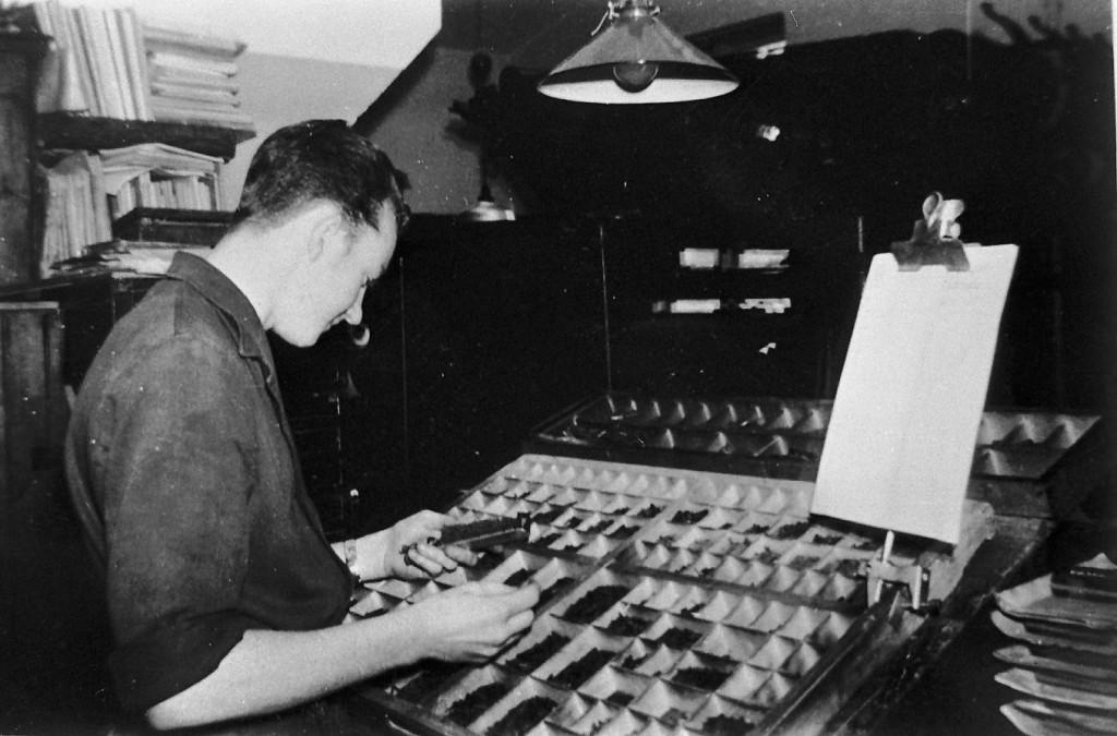 1961 Typograf  Håndsætter
