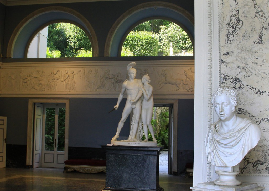 Villa Carlottas kunstværker fx Thorvaldsen