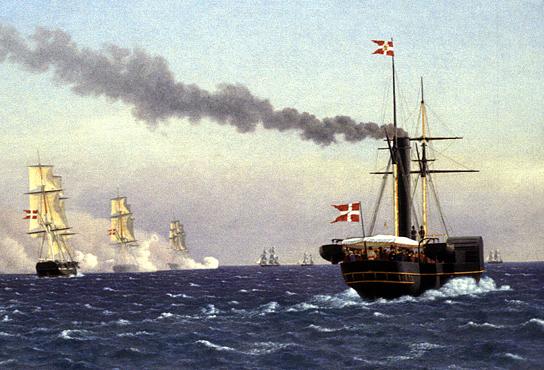 Dampskibet ÆGIR med kong Christian VIII om bord i 1841.