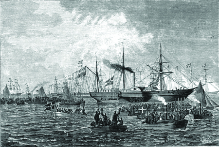 Kongeskibet SLESVIG, 1856-1880.