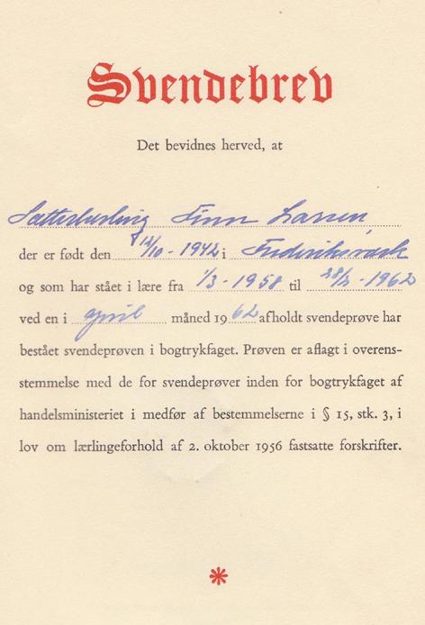Svendebrev Typograf (2)